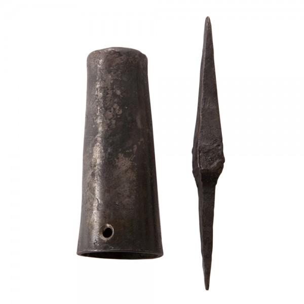Steckenspitz zweiteilig, Spitz und Hülse aus Eisen geölt