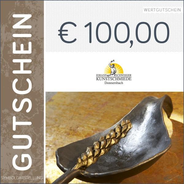 100 Euro Gutschein - Kunstschmiede Schweiger
